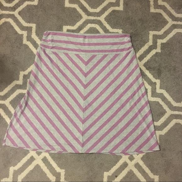 Faded Glory Dresses & Skirts - Diagonally Striped Purple and Gray Skirt
